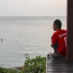 Un jeune pêcheur